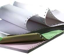 Continuous stock and bespoke listing paper