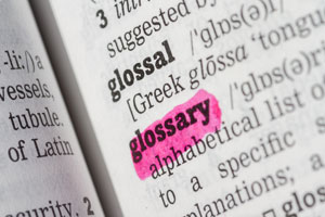 glossary of paper industry terms Inbound logistics' glossary of transportation, logistics, supply chain, and international trade terms can help you navigate through confusion and get to the meaning.