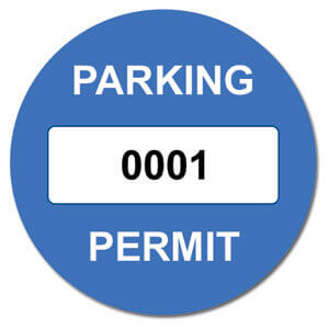 Self cling window stickers & printed parking permits