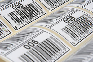 EAN printed barcode labels