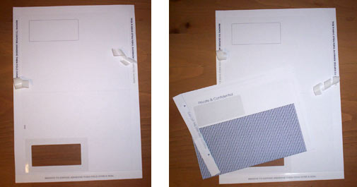 Tape seal mailers